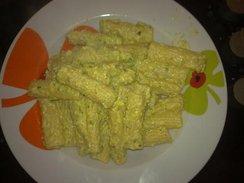 Tortiglioni alla crema di zucchine