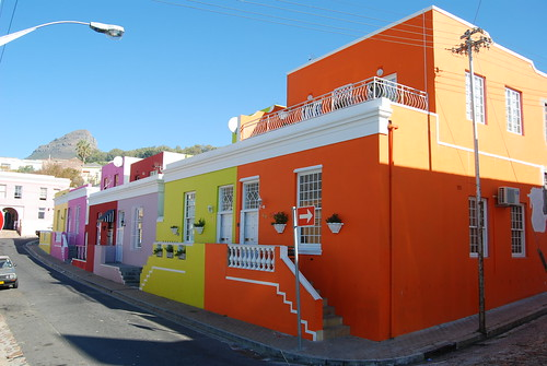 Some colourful houses in Bo Kaap, Cape Town, South Africa