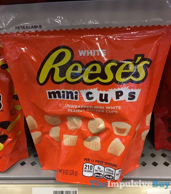 White Reese's Mini Cups Unwrapped
