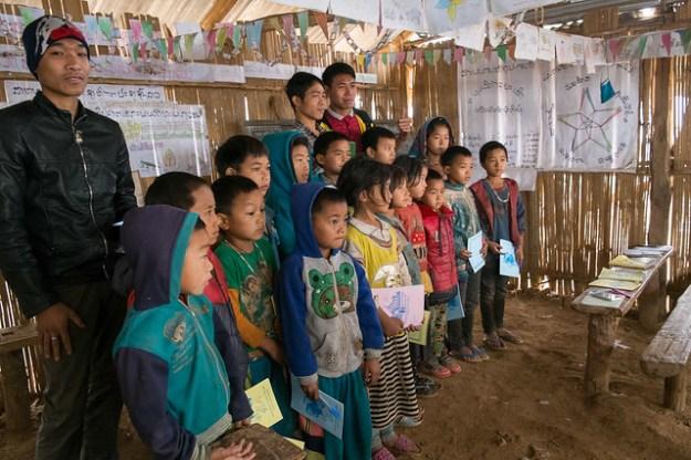 Schoolhouse. Akha village