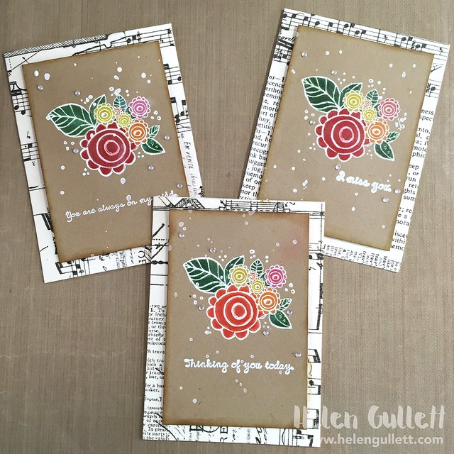 Some Blooming Sympathy Cards using Unity Stamp Co. #creatingjoyfully #cardmaking #handmadecard #papercrafting #stamping #embossing #coloring #prismacolorpremier #prismacolor #timholtz #rangerembossingpowder #unitystampco #sympathycard