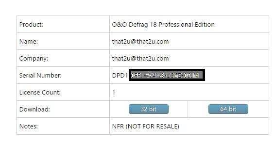 Bản quyền miễn phí phần mềm O&O Defrag 18