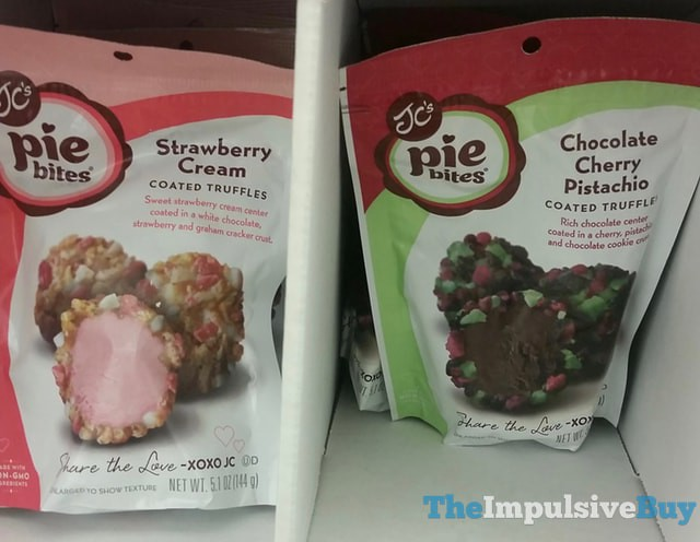 JC's Pie Bites Strawberry Cream and Chocolate Cherry Pistachio