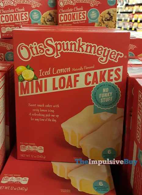 Otis Spunkmeyer Iced Lemon Mini Loaf Cakes