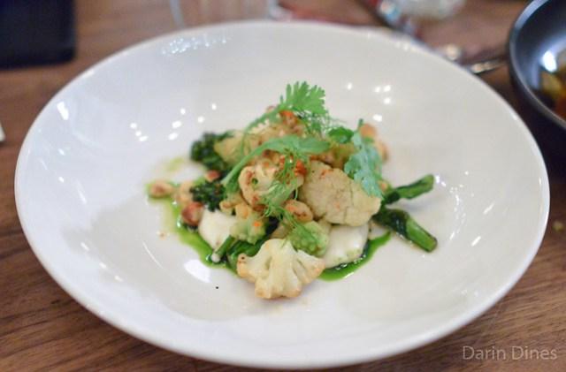 Brassicas, curried cauliflower