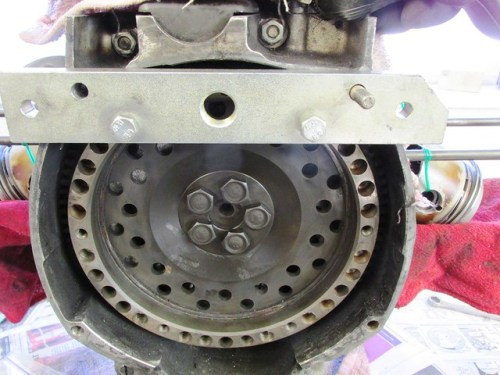Puller Plate Installed to Immobilize Flywheel