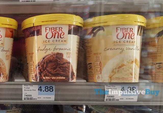 Fiber One Ice Cream (Fudge Brownie and Creamy Vanilla)