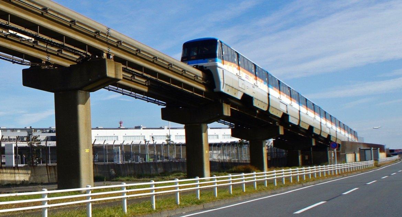 Haneda Airport - Monorail and Mount Fuji