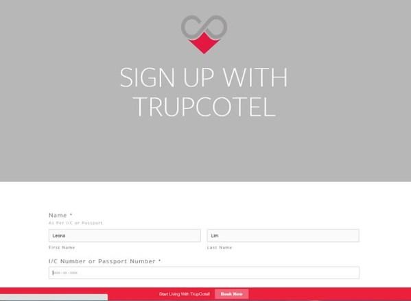 sign up trupcotel