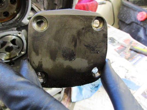 Top of Oil Pump Cover Has Beveled Edge