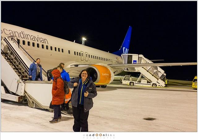 Aankomst Evenes Airport, Lofoten 2016
