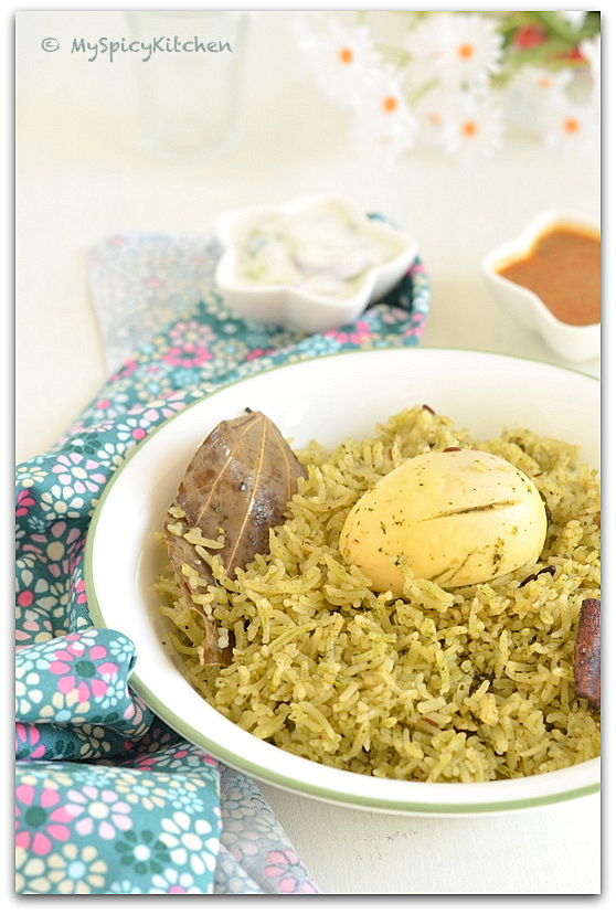 Egg Pulao, Flavored Rice, Mint Cilantro Rice, Blogging Marathon, Indian Food, Indian Cuisine, One Pot Meal, Meal Ideas,