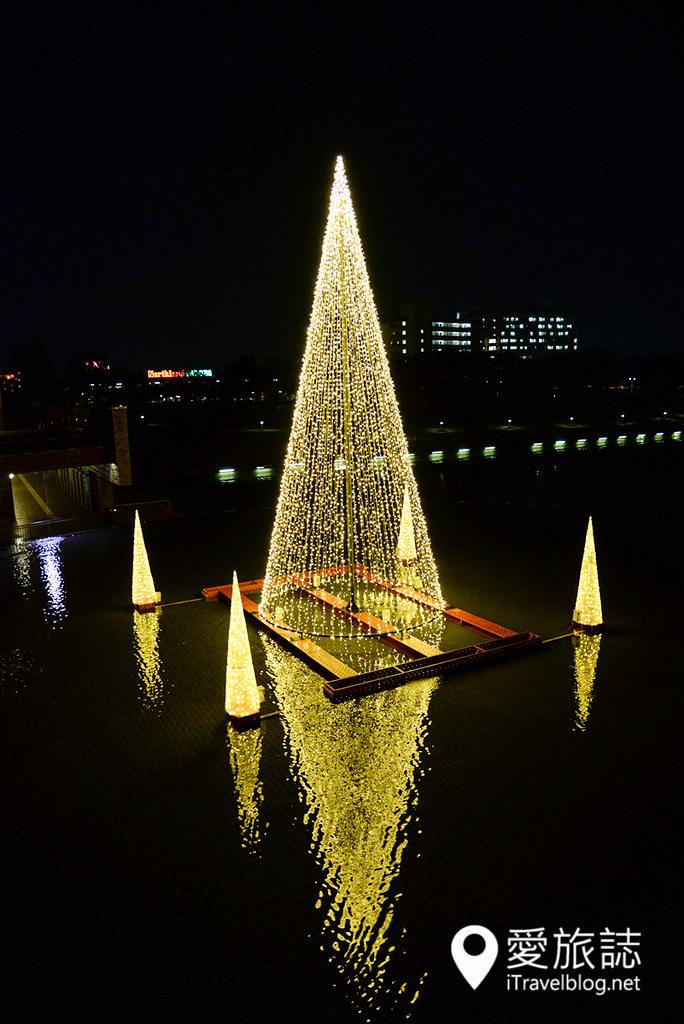 《日本富山景点》富岩运河环水公园:星巴克坐享樱花大道美景