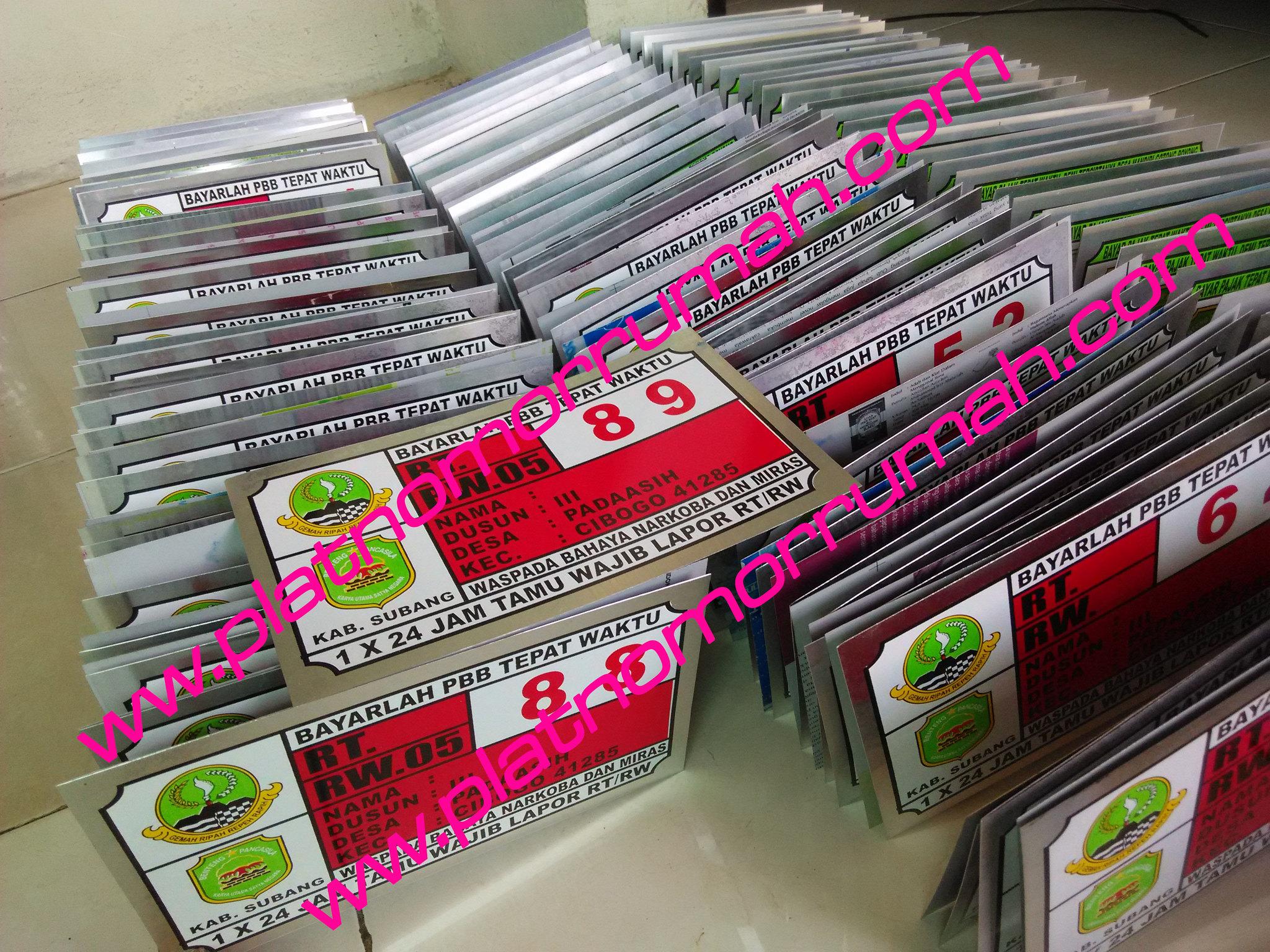 Plat Nomor Rumah Subang cibogo