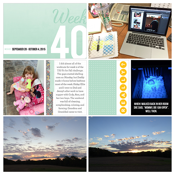 Project Life 2015: Week 40