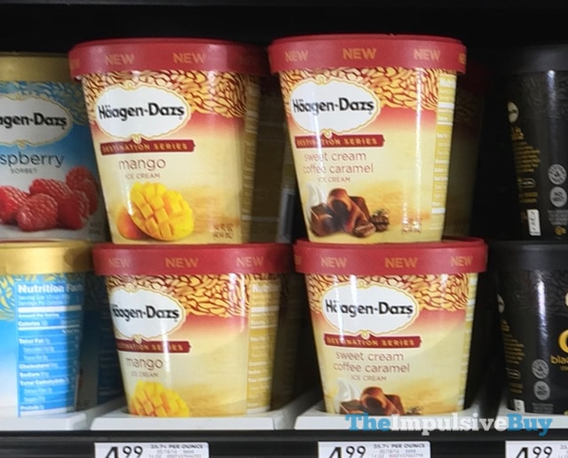 Ha?agen-Dazs Destination Series Mango and Sweet Cream Coffee Caramel Ice Cream