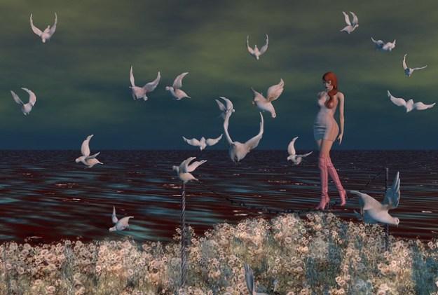 """The sea was as dark as dreams and as deep as sleep"""