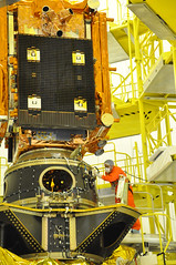 ASAP-S payload platform before the closure of the fairing