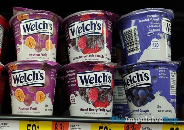Welch's Yogurt (Passion Fruit, Mixed Berry Fruit Punch, and Concord Grape)