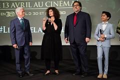 Avant-Première du film « LE LIVRE DE LA JUNGLE » à Paris (France), en présence du réalistateur Jon Favreau, du producteur Birgham Taylor, du personnage principal incarné par Neel Sethi, et des talents français qui ont doublé un personnage dans le film : L