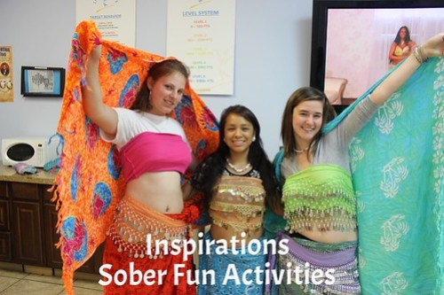Teens pose during sober fun