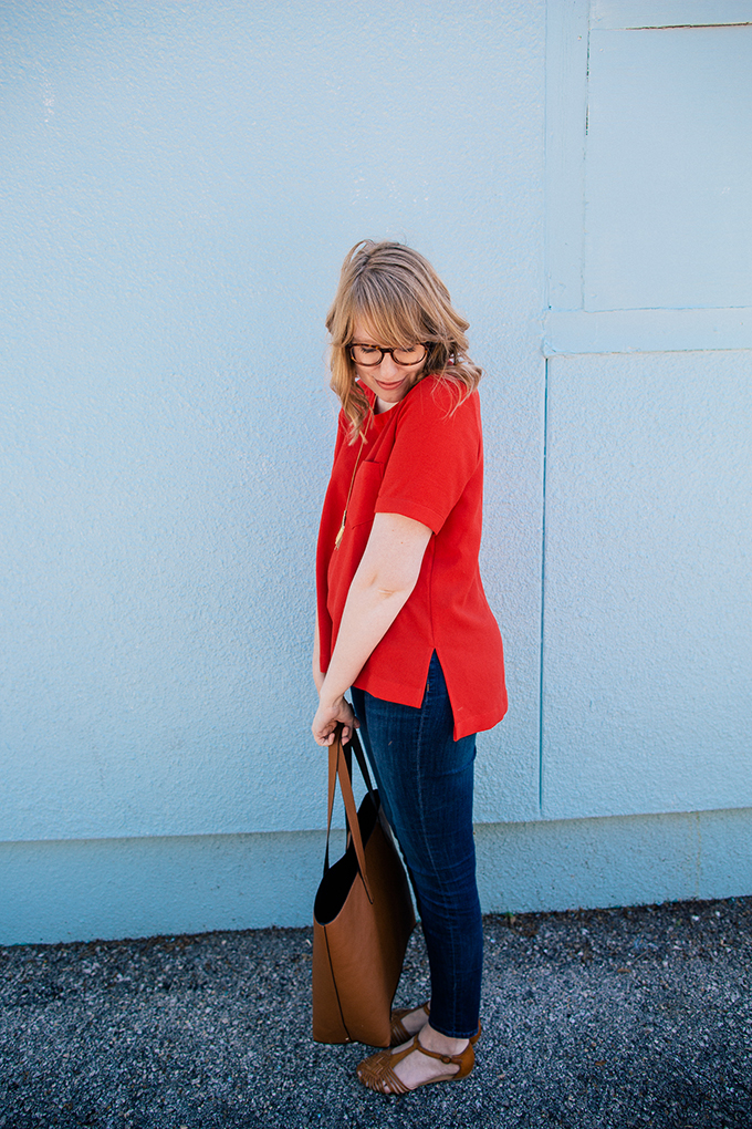 madewell button back top