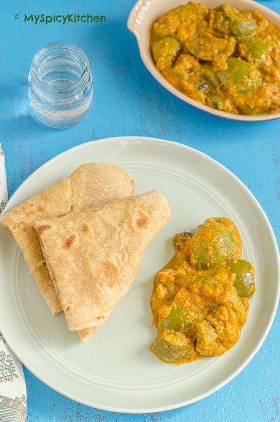 Vankaya Koora, Masala Vankaya Kura,  Green Vankaya Kura, Green Eggplants Curry, Thai Eggplants Curry, Indian Curry, Indian Food, South Indian Food, Andhra Food, Telugu Food,