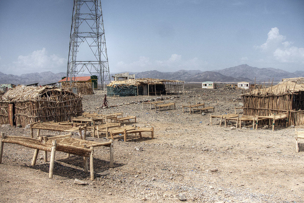 Our camp in the Afar region.