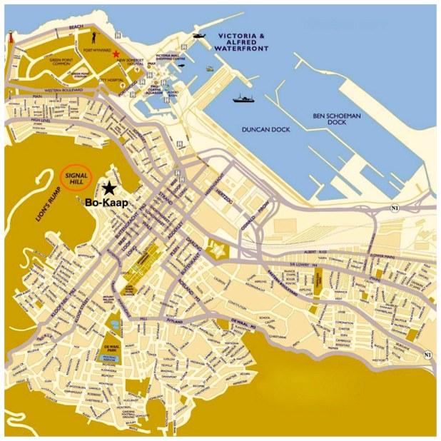 Mapa de Ciudad del Cabo