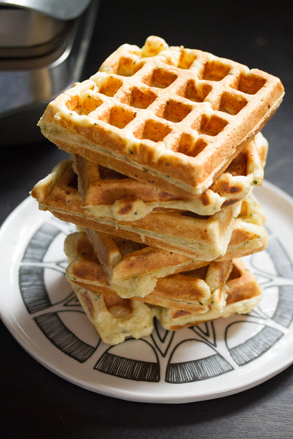 Herbed Ricotta Waffles