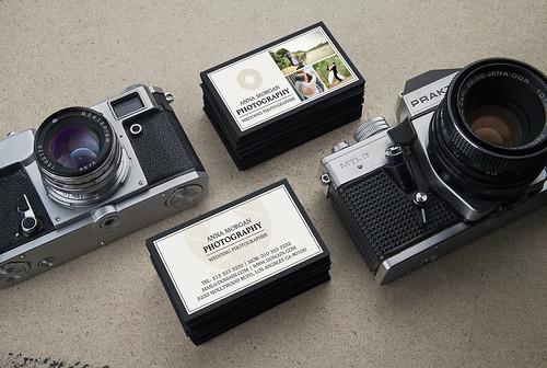 Elegant Wedding Photographer Business Cards
