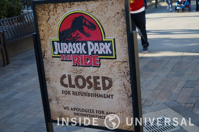 January 5, 2016 Update - Jurassic Park - Universal Studios Hollywood
