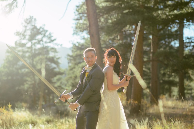 Epic wedding sword battle as seen on @offbeatbride #weddings #swords