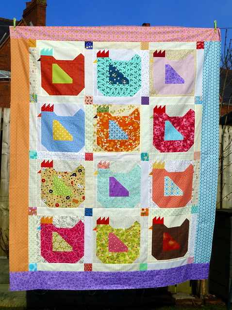 Mama Hen Quilt Top for Siblings Together