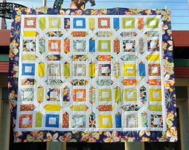 FINALLY! I had this all finished except the borders in September 2013. I wonder how many years until I quilt it.