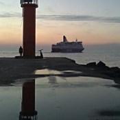 Music evening: Petit Biscuit - Sunset Lover /  #CozyEvening #GoodNight #Sunset #Lighthouse #Bike #Sea #Ship #Tallink #MSIsabelle #Isabelle #BalticSea #GulfOfRiga #Spring #March #Riga #Latvia #VecakiLongBeach #09032016.