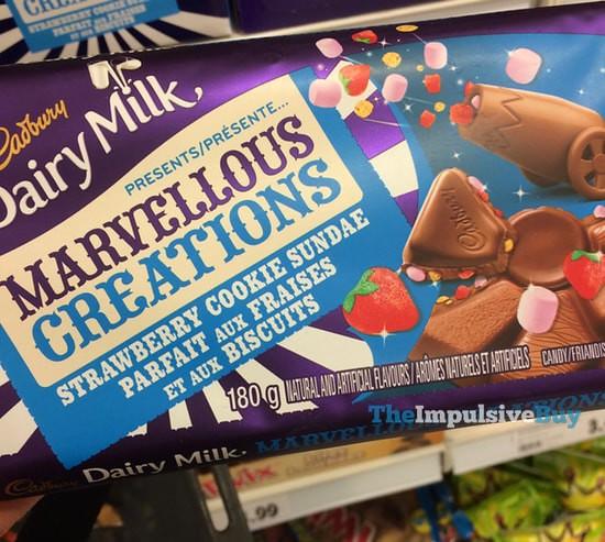Cadbury Dairy MIlk Marvellous Creations Strawberry Cookie Sundae
