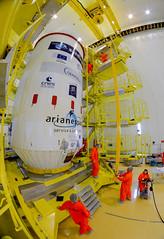 Soyuz VS14 upper composite in the S3B preparation building