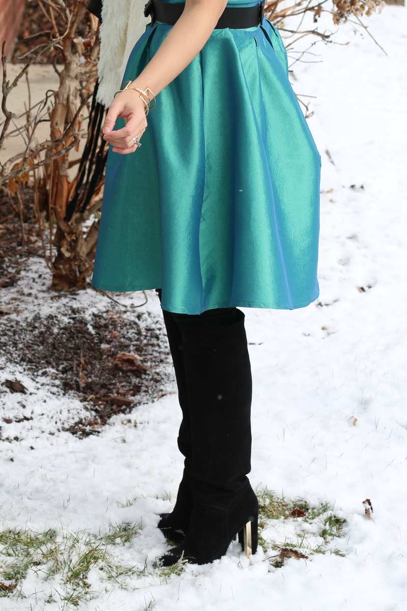 Shabby-Apple-green-dress-suede-boots-2