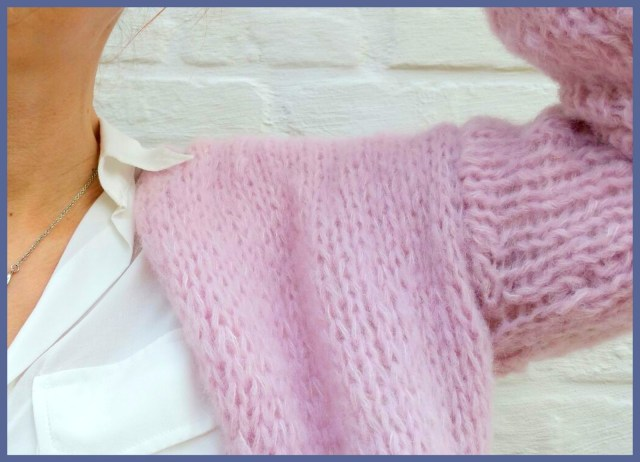 knitted cardigan (sleeve detail)