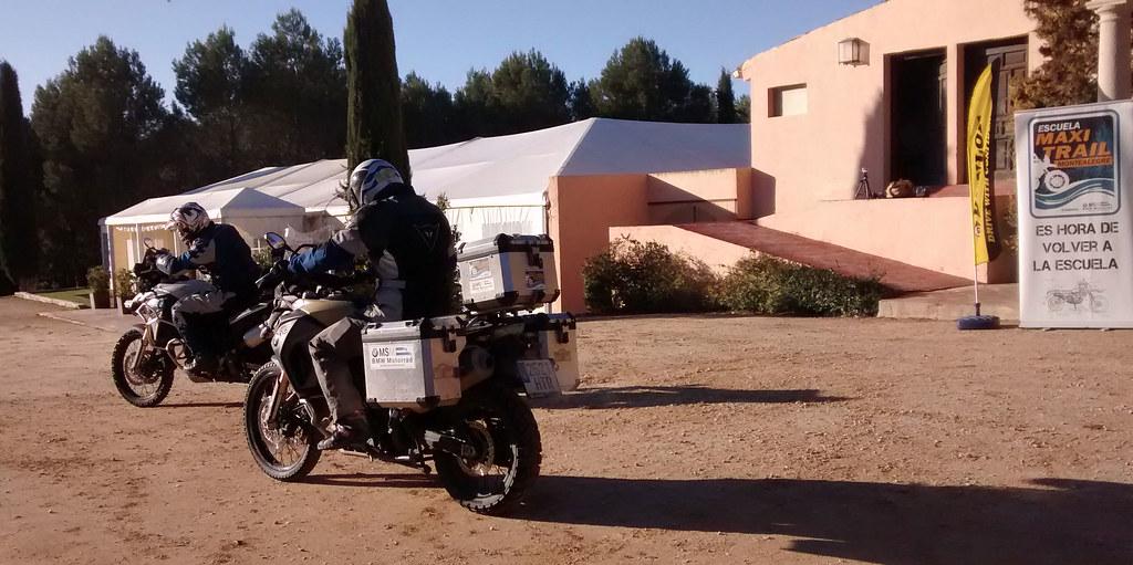 Llegando al curso de conducción de la Escuela Maxi Trail Montealegre, Toledo