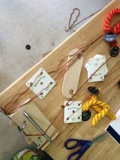 Tablet weaving setup