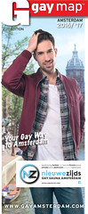 Cover Amsterdam Gay Map 2016, in opdracht van Gay International Press