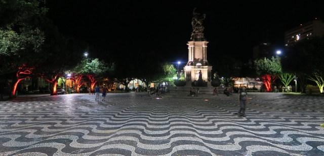 Promenade outside Amazonas Theatre Manaus