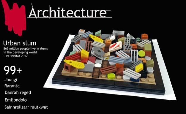 Lego Architecture Slum city