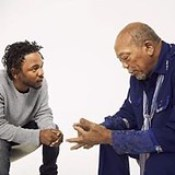 READ: A Humbled Kendrick Lamar Interviewed His Musical Inspiration, N.W.A.  In the first minutes of their exchange, Jones challenges K. Dot's perceptions of the origin of rap, schooling him on the genre's West African roots. Later picking Jones' brain abo