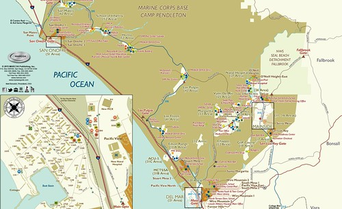Camp Pendleton Map detail