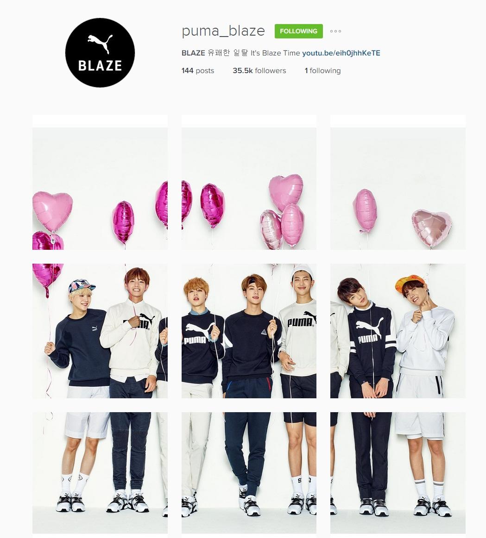 """Bts Ig: [Picture/IG] BTS X PUMA """"Happy Valentine's Day"""" #BLAZE"""