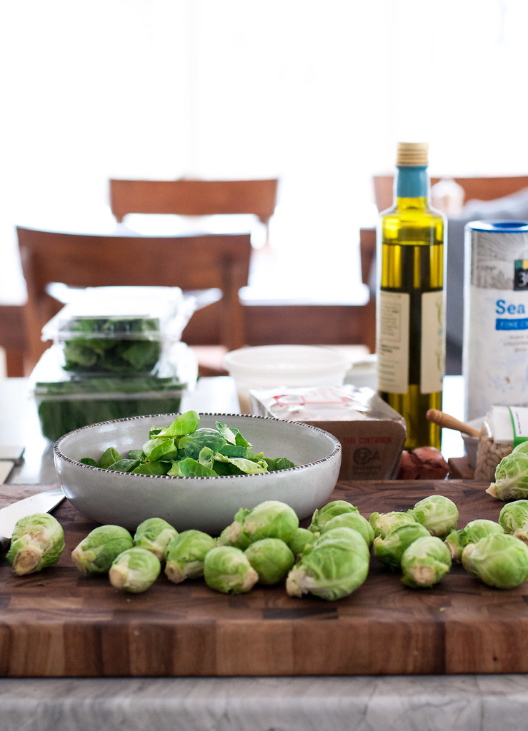 balsamic and brussels rice bake recipe