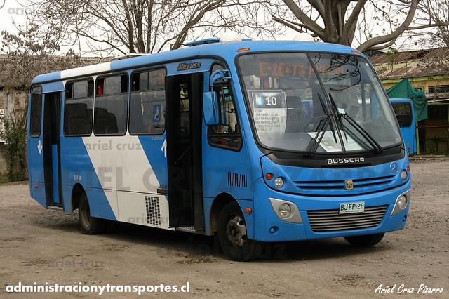 Transantiago (E10) - Unitran - Busscar Micruss / Mercedes Benz (BJFP28)